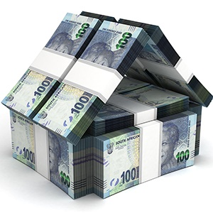 Real Estate Concept South African Rand